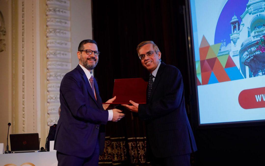 Prof Senior receives another award