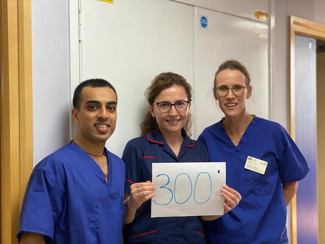 Reinette and Ashish finish recruiting in the Evarest trial with an amazing 300 patients